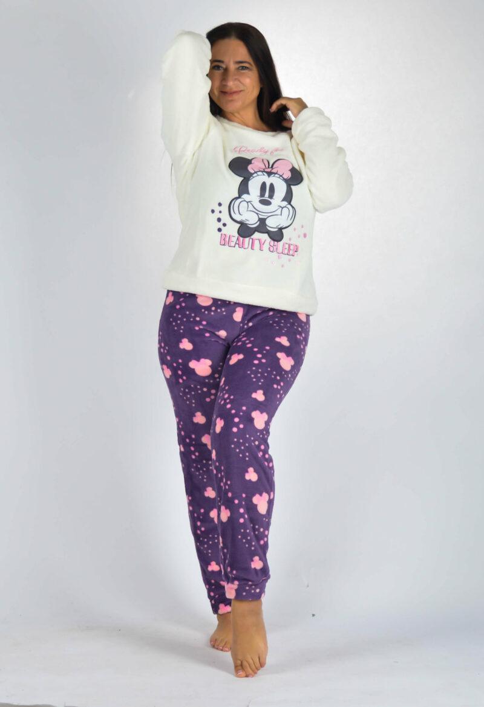 Női Pizsama Lila Színben